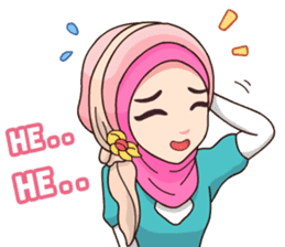 Hijab Kekinian sticker #11861994