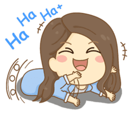 Rina Office Girl (English) sticker #11865296
