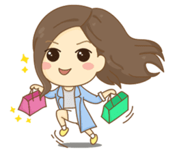Rina Office Girl (English) sticker #11865301