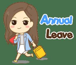 Rina Office Girl (English) sticker #11865302
