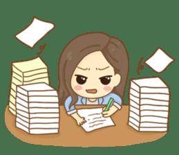 Rina Office Girl (English) sticker #11865317
