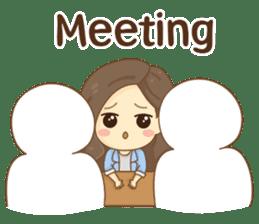 Rina Office Girl (English) sticker #11865318