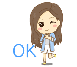 Rina Office Girl (English) sticker #11865325