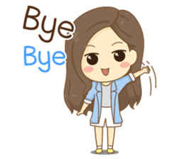 Rina Office Girl (English) sticker #11865327