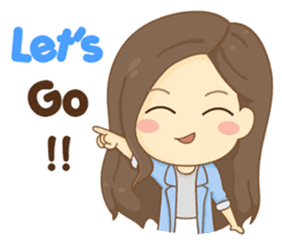 Rina Office Girl (English) sticker #11865330