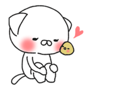 Animated MochiNyan & MochiBird sticker #11870654