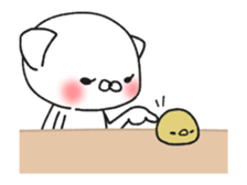 Animated MochiNyan & MochiBird sticker #11870655