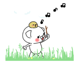 Animated MochiNyan & MochiBird sticker #11870660