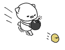 Animated MochiNyan & MochiBird sticker #11870671