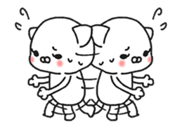 Animated MochiNyan & MochiBird sticker #11870672