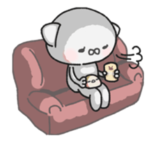 Animated MochiNyan & MochiBird sticker #11870675
