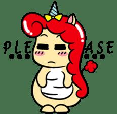 Red Marvicorn sticker #11878303