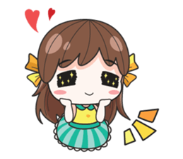 melon goofy girl, but I am so cute + sticker #11880659
