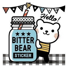 Bitter Bear Sticker