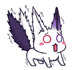 fox girl-tails sticker #11886646