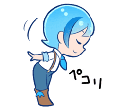 The hydrogen element character Proto sticker #11890431
