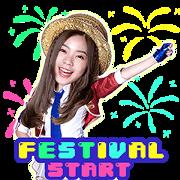 สติ๊กเกอร์ไลน์ BNK48 : BNK Festival