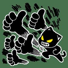 mew mew blacky 3 sticker #11903510