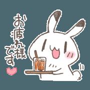 สติ๊กเกอร์ไลน์ love rabbit very cute 6.5