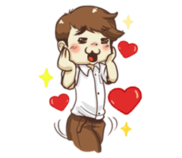 Poor face, Handsome heart.! + sticker #11909940