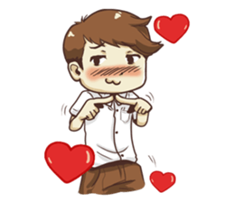 Poor face, Handsome heart.! + sticker #11909956