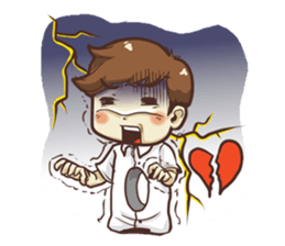 Poor face, Handsome heart.! + sticker #11909962