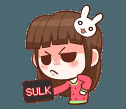 A moody girl. + sticker #11911344