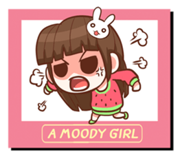 A moody girl. + sticker #11911349