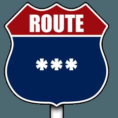 アメリカの国道の標識(J)