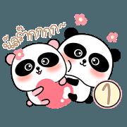 สติ๊กเกอร์ไลน์ Pandy Panda : Love U