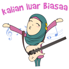 Cute Hijab sticker #11942496