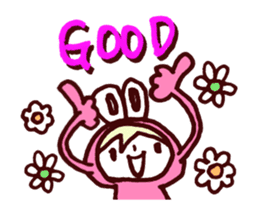 Pink Frog love Silly Wolf 'RBBR~' sticker #11958104