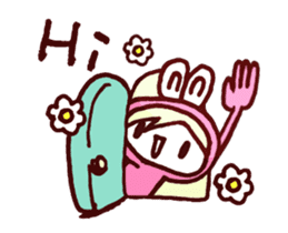 Pink Frog love Silly Wolf 'RBBR~' sticker #11958105