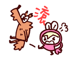 Pink Frog love Silly Wolf 'RBBR~' sticker #11958112