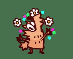Pink Frog love Silly Wolf 'RBBR~' sticker #11958116