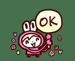 Pink Frog love Silly Wolf 'RBBR~' sticker #11958124