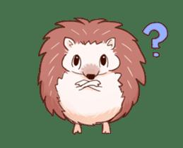 Moving hedgehog sticker #11964300