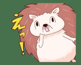 Moving hedgehog sticker #11964304