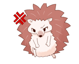 Moving hedgehog sticker #11964307