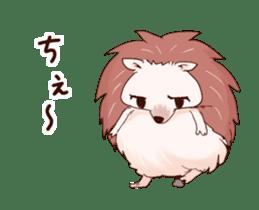 Moving hedgehog sticker #11964308