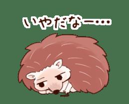 Moving hedgehog sticker #11964309