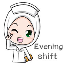 Lovely Muslimah Nurse sticker #11978712