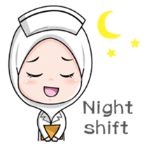 Lovely Muslimah Nurse sticker #11978713
