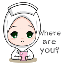 Lovely Muslimah Nurse sticker #11978717
