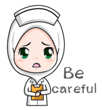 Lovely Muslimah Nurse sticker #11978720