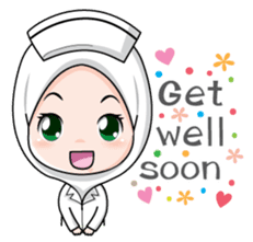 Lovely Muslimah Nurse sticker #11978723