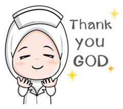 Lovely Muslimah Nurse sticker #11978724