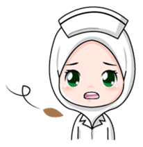 Lovely Muslimah Nurse sticker #11978731