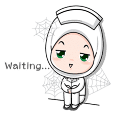 Lovely Muslimah Nurse sticker #11978739