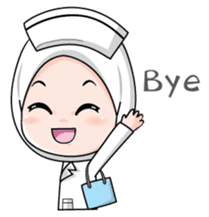 Lovely Muslimah Nurse sticker #11978745